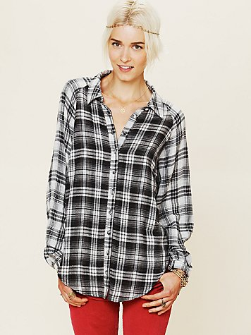 FP New Romantics Plaid Capelet Top