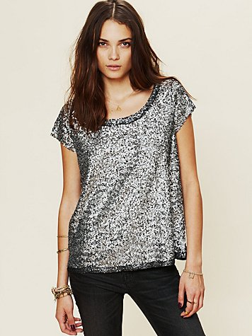 Free People Sparkle Sand Dunes Tee