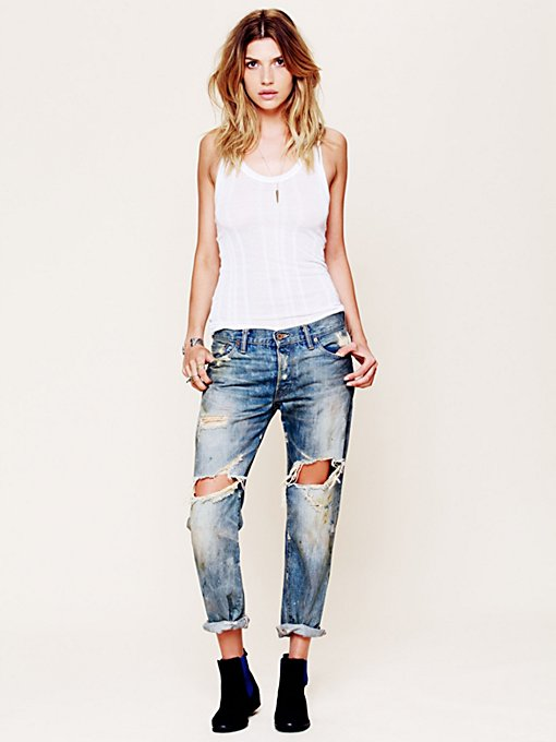 Oil Stained Destroyed Boyfriend Jean in catalog-oct-12-catalog-oct-12-catalog-items