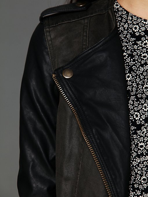 Pieced Vegan Motorcycle Jacket