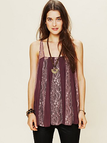 Intimately Pieced Lacey Tunic