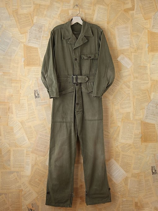 Free People Vintage Military Jumpsuit in vintage-skirts