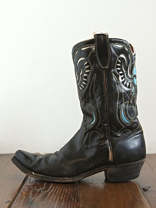 Free People Vintage Black Leather Boots in vintage-shoes
