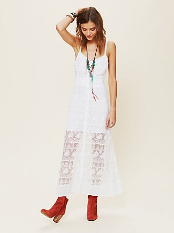Free People Prairie Mesh Dress