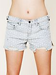 Floral Printed Ditsy Denim Shorts