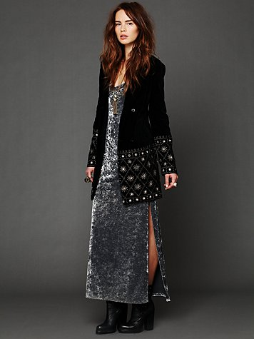 Embellished Magic Velvet Coat