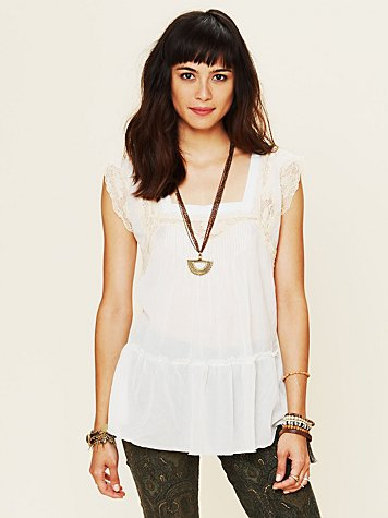 Free People Lace Trim Cami