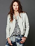 Creme Leather Jacket