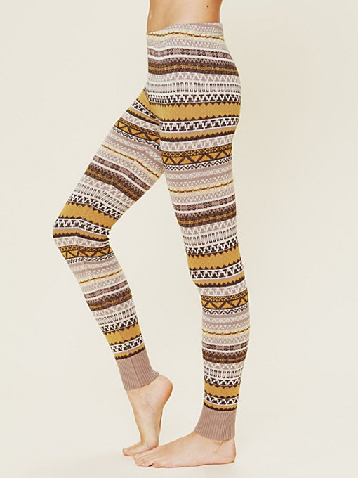 Patterned Sweater Legging