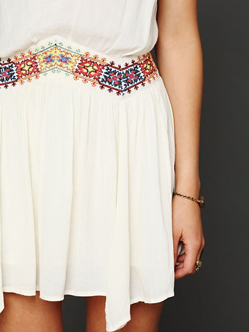 Ethnic Embroidered Waist Dress