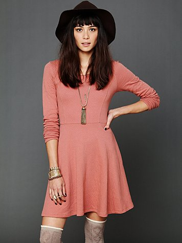 Free People Molly's Lace Up Fit N Flare