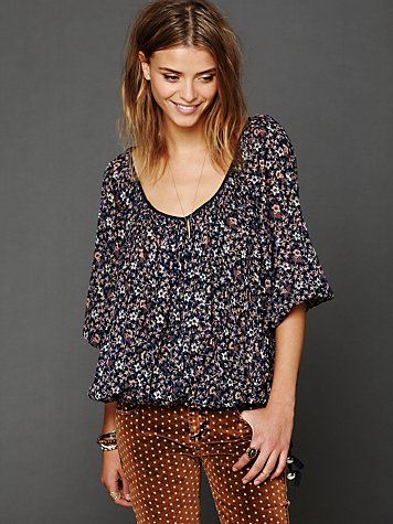 Free People FP One Printed Blouse