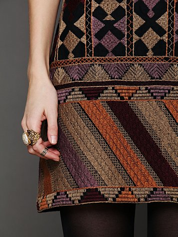 Phulkari Embroidered Shift Dress