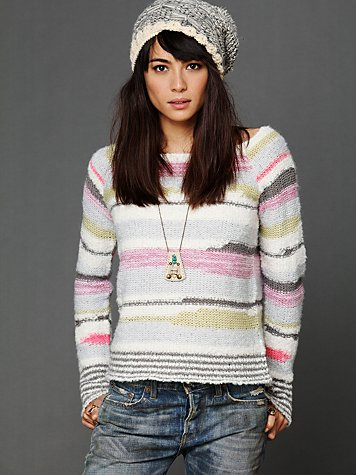 Free People Cloud Pattern Pullover