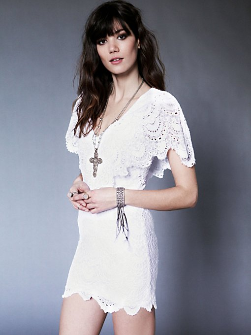 Nightcap  Spanish Lace Poncho Dress in designer-brand-clothing