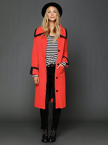 Free People FP New Romantics Long Molly Sweater Coat