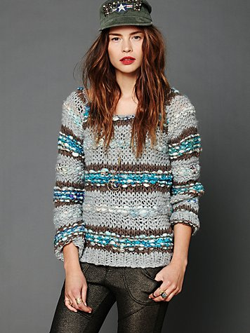 Free People Lofty Sari Pieced Pullover