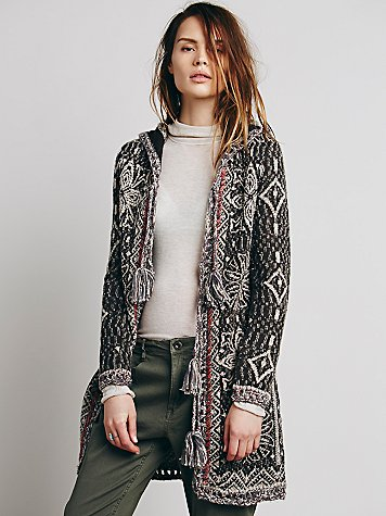 Free People Kai Pom Pom Cardigan