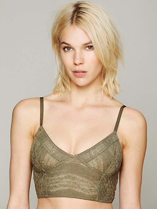 Intimately Lace Crop Bra in Mesh-Bras