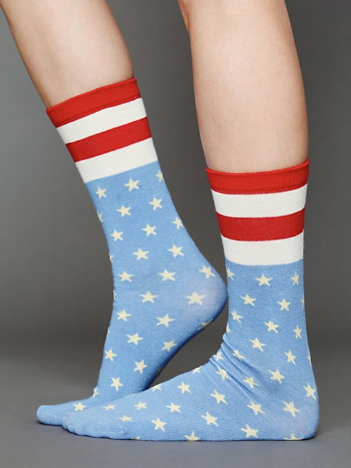 Americana Ankle Sock in accessories-legwear-ankle-socks