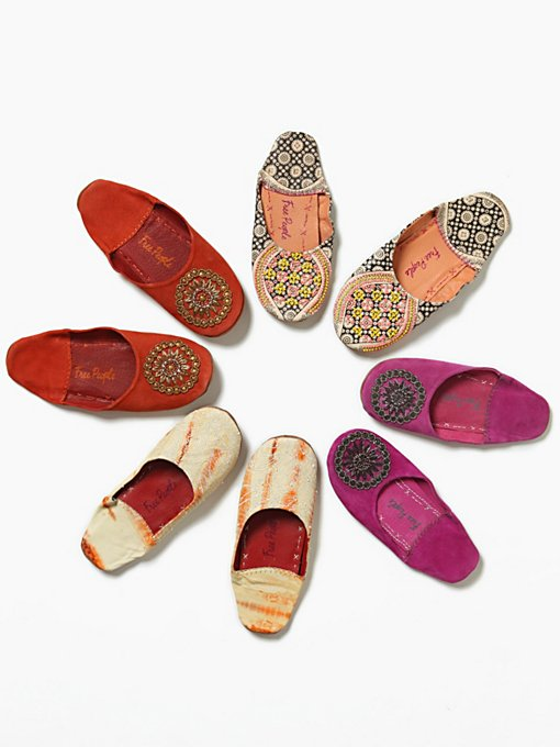 Moroccan Beaded Slipper in Walking-in-a-Winter-Wonderland