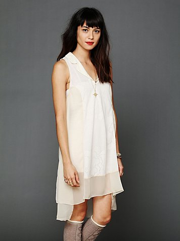 Intimately Floral Jacquard Chiffon Nightie