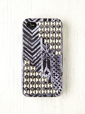 Free People Printed Studded iPhone 4/4S Case