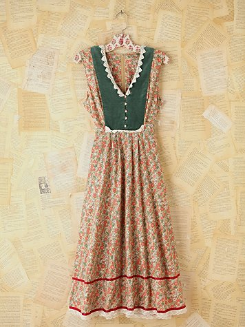 Free People Vintage Multicolor Floral Dress