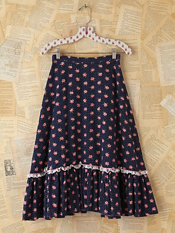 Free People Vintage Ditzy Floral Skirt