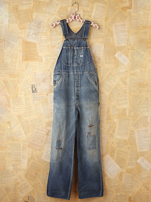 Free People Vintage LEE Denim Overalls in vintage-jeans