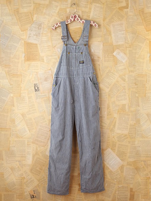 Free People Vintage Osh Kosh Railroad Striped Overalls in vintage-jeans