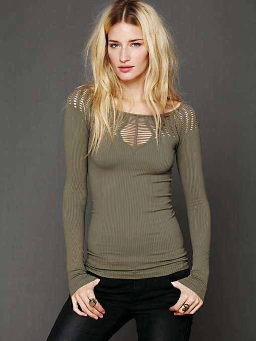 Cut Out Neck Long Sleeve Top in clothes-layering-thermals-long-sleeves