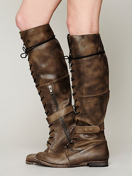 Landmark Lace Boot in Walking-in-a-Winter-Wonderland