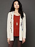 Whip Stitch Hooded Cardigan