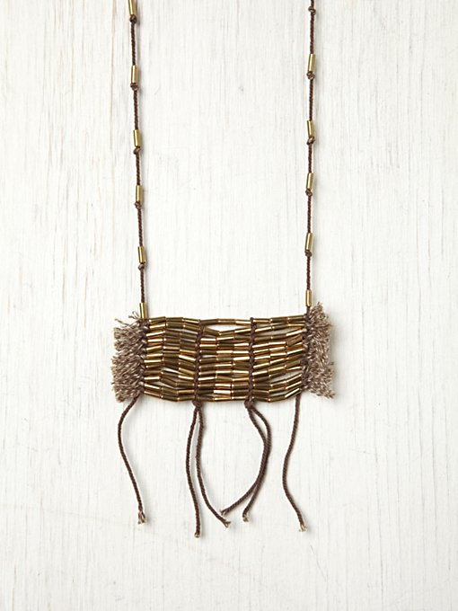 Beaded Plate And Fringe Necklace in sale-sale-under-50