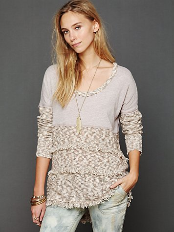 Free People Pieced Fringe Swit