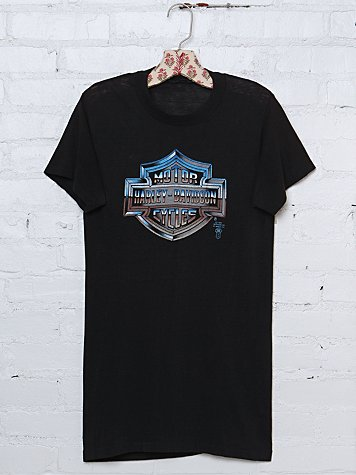 Free People Vintage Harley Davidson Graphic Tee