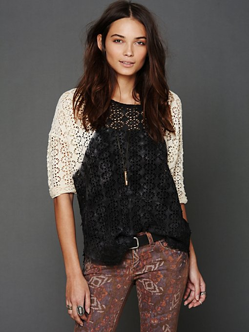 Free People We The Free Crochet Love Raglan in knit-tops