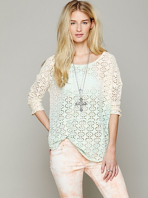 We The Free Crochet Love Raglan in sale-sale-under-50