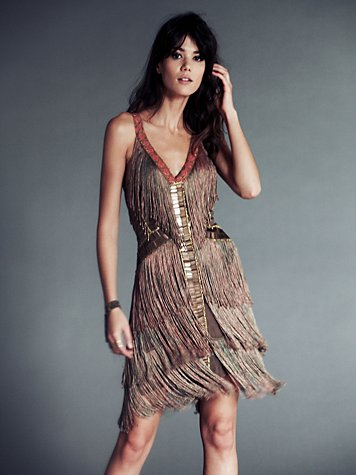 Fire Circle Fringe Dress