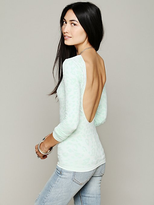 Printed Low Back Cami in clothes-layering