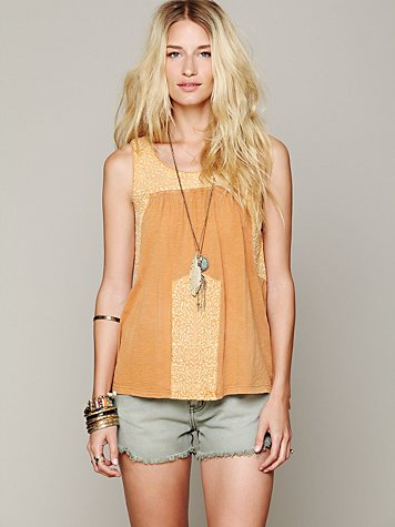 Free People Rhiannon Embroidered Tank