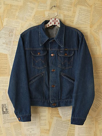Free People Vintage Wrangler Denim Jacket