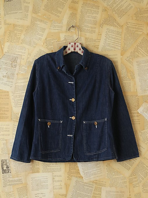 Free People Vintage Denim Jacket in vintage-jeans