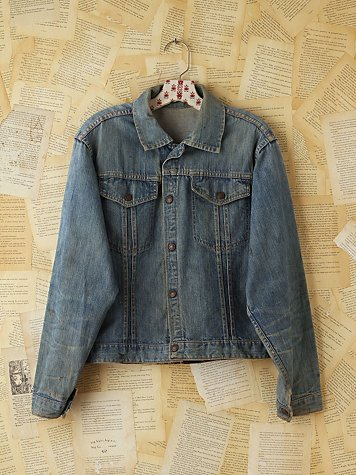Free People Vintage Light Blue Denim Jacket