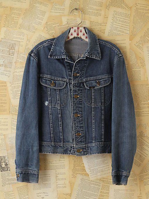 Free People Vintage Lee Denim Jacket in vintage-jeans