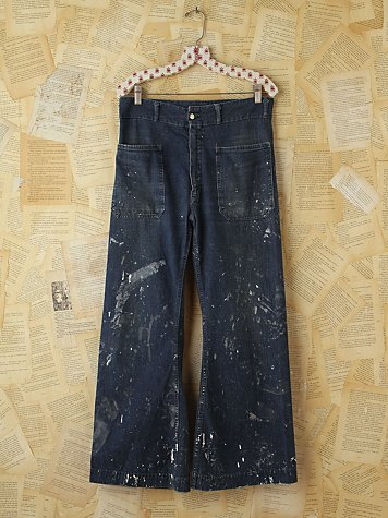 Free People Vintage High-Waisted Wide Leg Jeans
