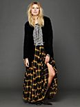 Plaid Flannel Maxi Skirt