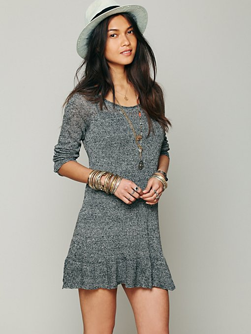 Free People Ruffle Your Hem Tunic in tunic-sweaters