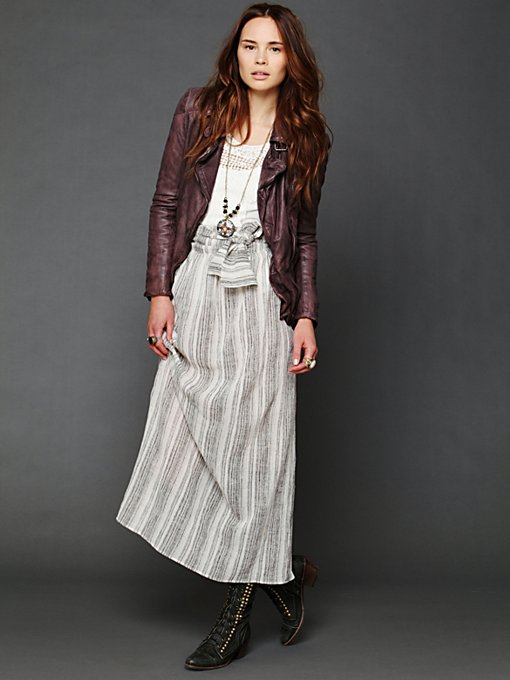 Jen's Pirate Booty Stripe Spinner Maxi Skirt in skirts